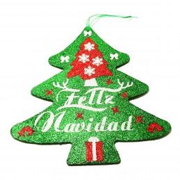Adorno decoración en Navidad en forma de árbol de Navidad