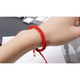 Pulsera Macrame roja - Kabbalah Amuleto, protección Mal de Ojo, Buena Suerte, niños y adultos
