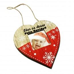 Adornos de Navidad con tu foto para decorar el árbol grandes con opción de grabar