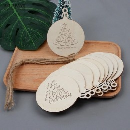 Bola de Navidad de madera especial familia,opción de grabar por detrás nombres