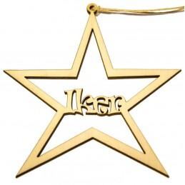 Estrella de Navidad personaliadas en madera para adornar el árbol