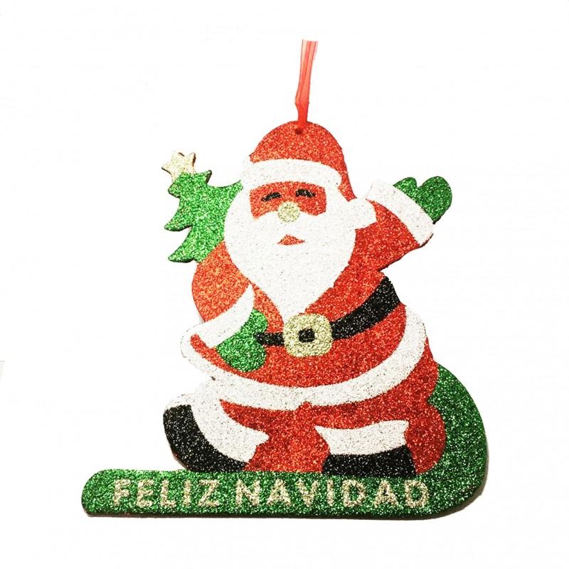 Adorno decoración de Navidad en forma de papá noel