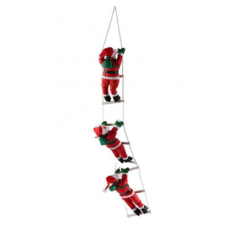 Detalle de Navidad Santa Claus Papa Noel con escalera