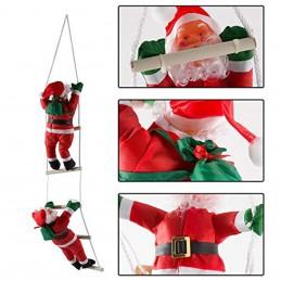 Santa Claus Papa Noel con escalera