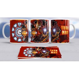 Super taza Iron Man -héroe famoso-Marvel