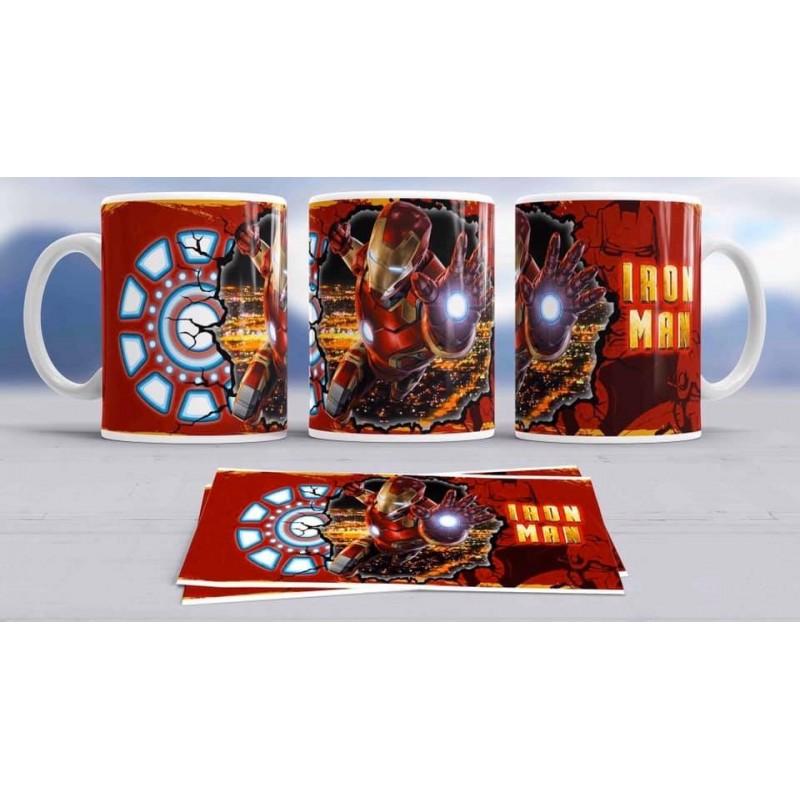 Super taza Iron Man -héroe famoso-Marvel