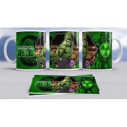 Super taza Hulk -héroe famoso-Marvel