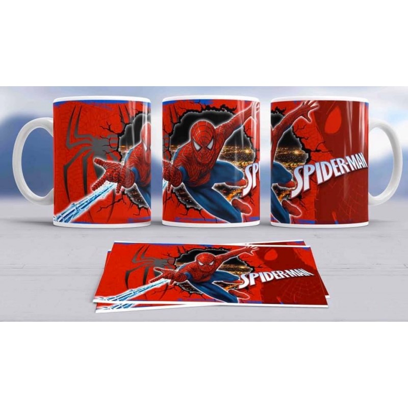 Super taza Spiderman -héroe famoso-Marvel