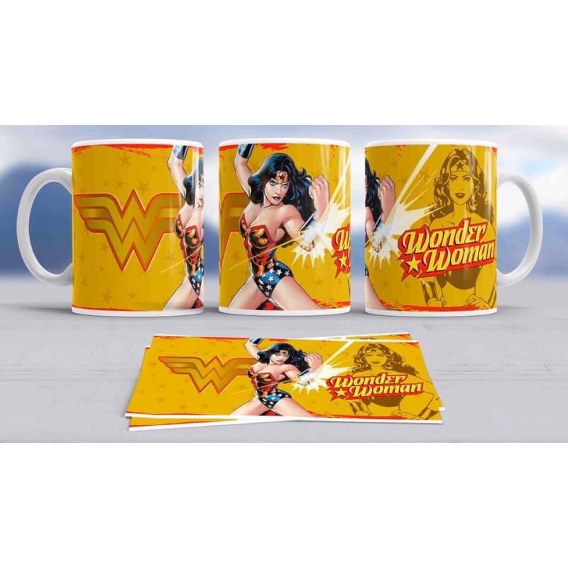 Super taza wonder woman -héroe famosa-Marvel
