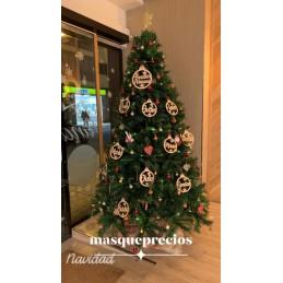 Esfera de Navidad personalizadas y troqueladas en madera para adornar el árbol 20CM y 15CM