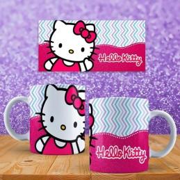 Super taza de la hello kitty colores rosas con su nombre