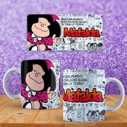 Super taza de Mafalda regalo cumpleaños niñas con su nombre
