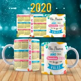 Taza calendario año nuevo 2020