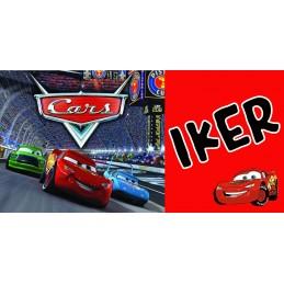 Super taza de los Cars personalizada con el nombre del niño