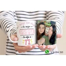 Super taza PRIMOS-primo o prima regalo personalizado con vuestras fotos