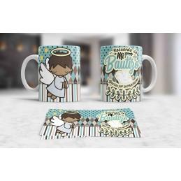 Super tazas ideal recuerdo bautizo y comuniones de niños M3