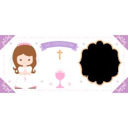 Super tazas ideal recuerdo bautizo y comuniones de niñas M6