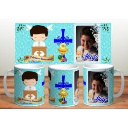 Super tazas ideal recuerdo comuniones de niños M7