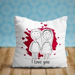 Cojin I Love You, regalo enamorados ideal parejas San Valentín