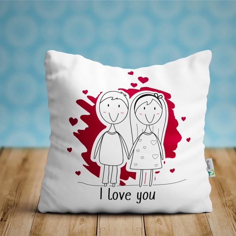 Cojin I Love You, regalo enamorados ideal parejas San Valentín