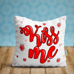 Cojin Kiss me, regalo enamorados ideal parejas San Valentín