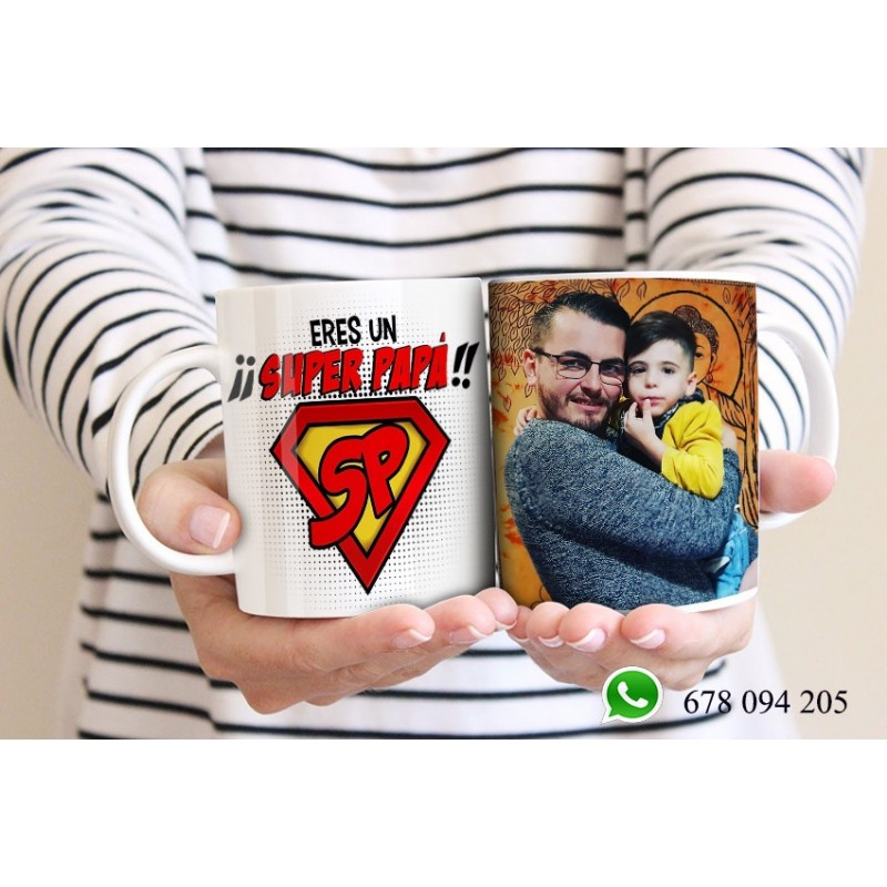 Taza detalle para papas, originales y exclusivas-super papá