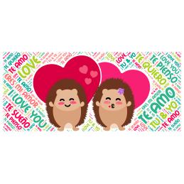 Taza blanca TE AMO-love you tu y yo regalo pareja matrimonio detalle