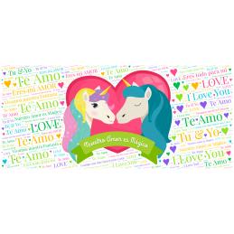 Taza uniconios-nuestro amor es magio ,aniverarios y san valentín