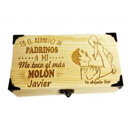 Caja de madera personalizada para padrino-regalo evento