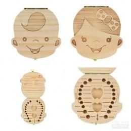 Caja guarda dientes de leche niño o niña (posibilidad de personalizarla con nombre)