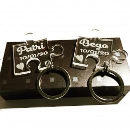 Llaveros de metacrilato 2 unidades o más en puzzle personalizados