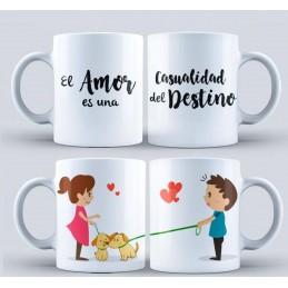 Duo de tazas,casualidad del destino ,aniverarios y san valentín