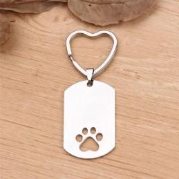 Llavero+pulsera de mascota con foto y nombre-ellos tambien importan