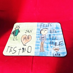 Alfombrilla de ratón personalizada con el dibujo a puño y letra del niño/regalo mamá y papá o profes
