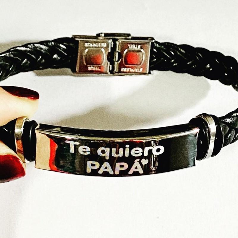 Pulsera te quiero papá de titaneo-regalo día del padre