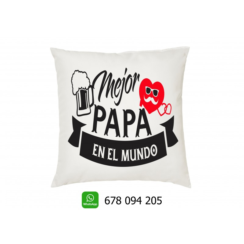 Cojin sel mejor papa del mundo- regalo para los padres en el dia del padre
