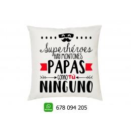 Cojin PAPAS como tú ninguno- regalo para los padres en el dia del padre