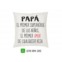Cojin PAPAS primer AMOR- regalo para los padres en el dia del padre