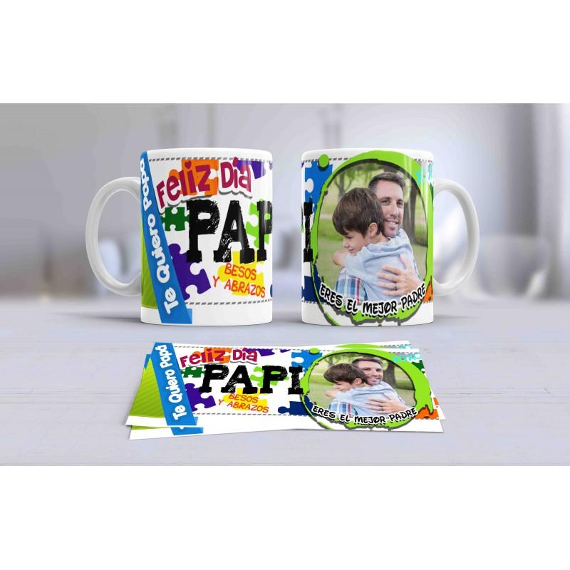 Taza detalle para papas, originales y exclusivas-Te quiero papa
