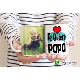 Taza detalle para papas, originales y exclusivas-Te quiero papa -19 marzo