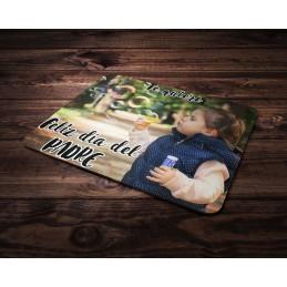 Alfombrilla de ratón regalo original para papá con foto del niño o niña