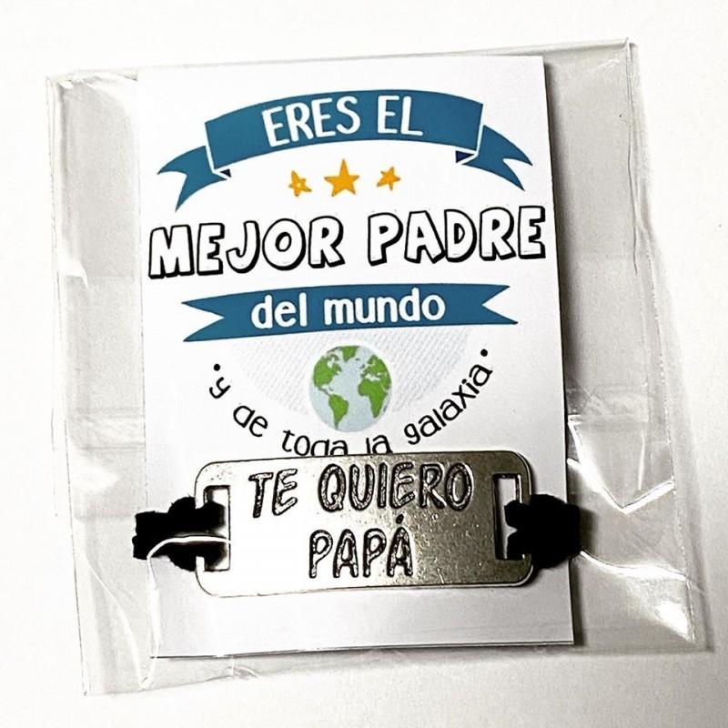 Pulsera ajustable regalo para papá+tarjeta