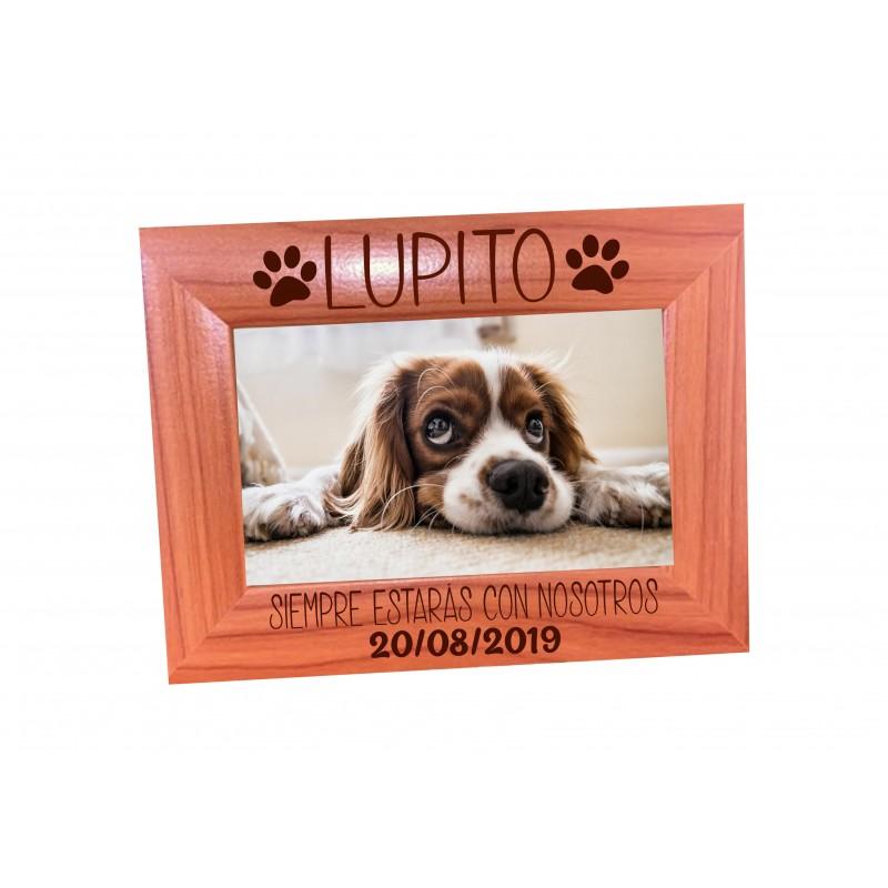 Marco de foto en madera personalizado para recordar a vuestras mascotas