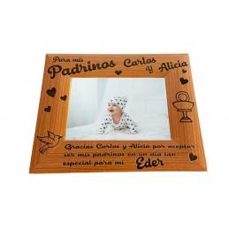 Marco de foto personalizado para madrinas y padrinos
