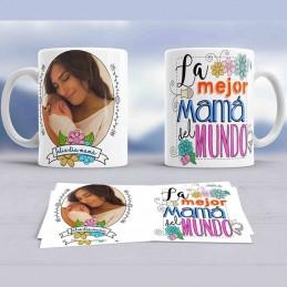 Taza regalo para la mejor mamá del mundo - Taza con foto personalizada