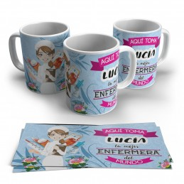 Taza original personalizada para enfermera regalo original ideal hospital