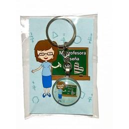 Llavero personalizado regalo original para profesores en finde curso
