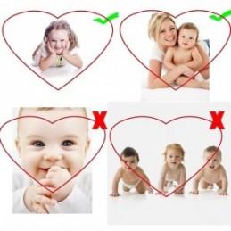 Llavero foto grabado forma Corazón