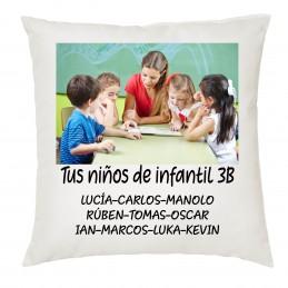 Cojin regalo profesores y monitores de educación infantil o guarderías a e i o u