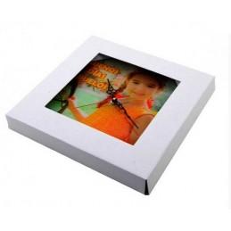 Reloj de cristal cuadrado personalizado con tu foto